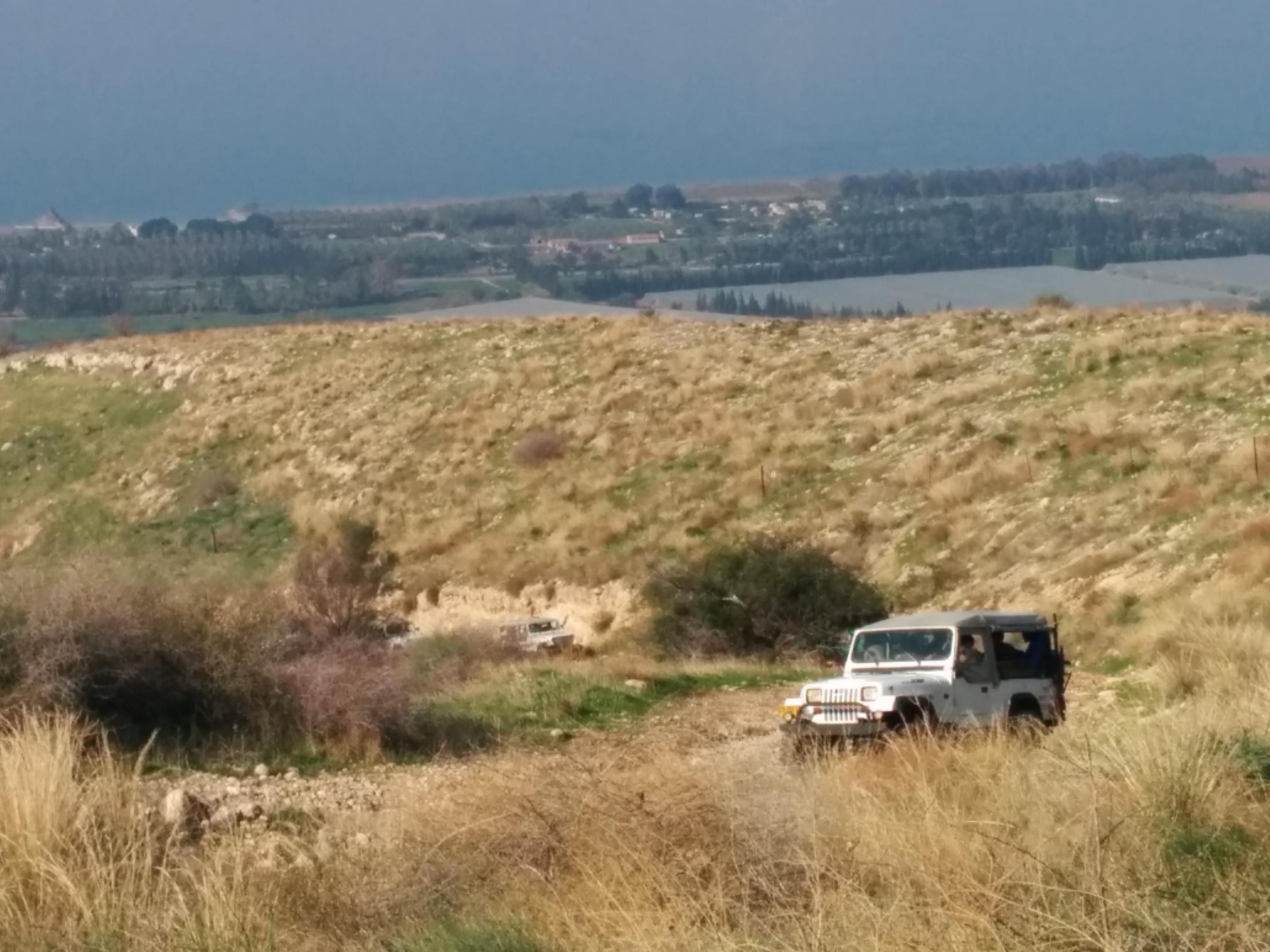 טיול ג׳יפים באזור דרום רמת הגולן פלגי בזלת