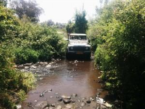 טיול ג'יפים מסלול מים פלגי בזלת