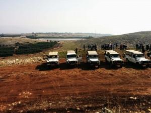 יום כייף לוועדי עובדים בג׳יפים של פלגי בזלת