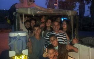 פעילות לילה למשפחות טיול ג׳יפים לילי פלגי בזלת